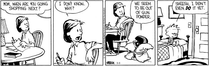 Calvin and Hobbes by Bill Watterson for May 3, 2017   Read Comic Strips at GoComics.com