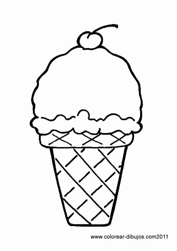 Ice Cream Cone Coloring Page Fresh Fresh Coloring Pages Ice Cream