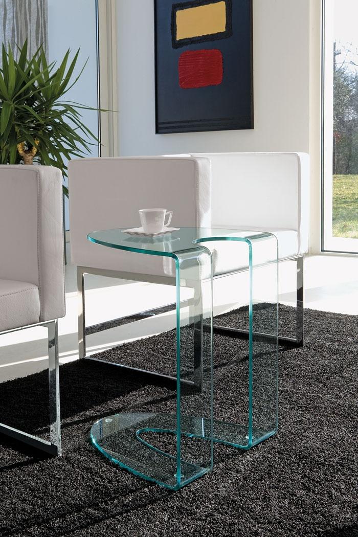 Tavolino di servizio in vetro design Ambrogio - ITALY DREAM DESIGN