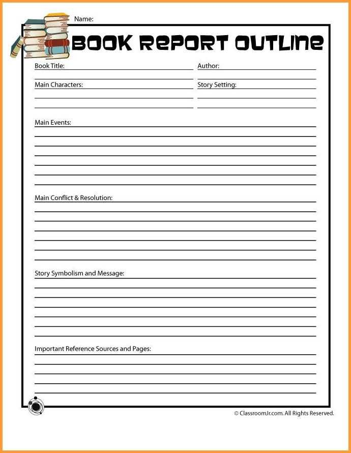 14 Book Report Template 5th Grade Types Of Letter Book Report Templates Book Report Grade Book