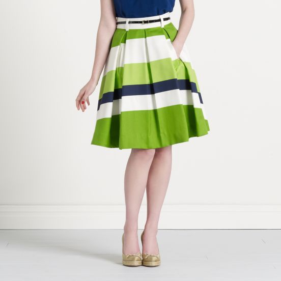 Striped Lillith Skirt via Kate Spade: Green Skirts, Lillith Skirts, Spade Stripes, Stripes Skirts, Spade Skirts, Colors Schemes, Green Stripes, Kate Spade, Stripes Lillith