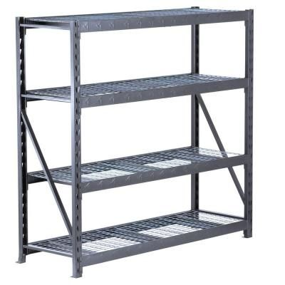 4shelf 72 in h x 77 in w x 24 in d welded steel garage shelving unit hammered granite - Gladiator Shelving