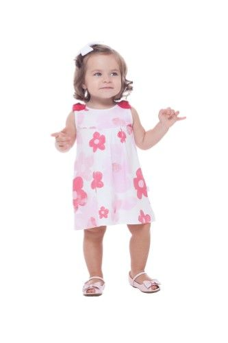 19298c1c9 Pulla Bulla Baby Girl Dress Floral Print Summer Sleeveless 3-6 ...