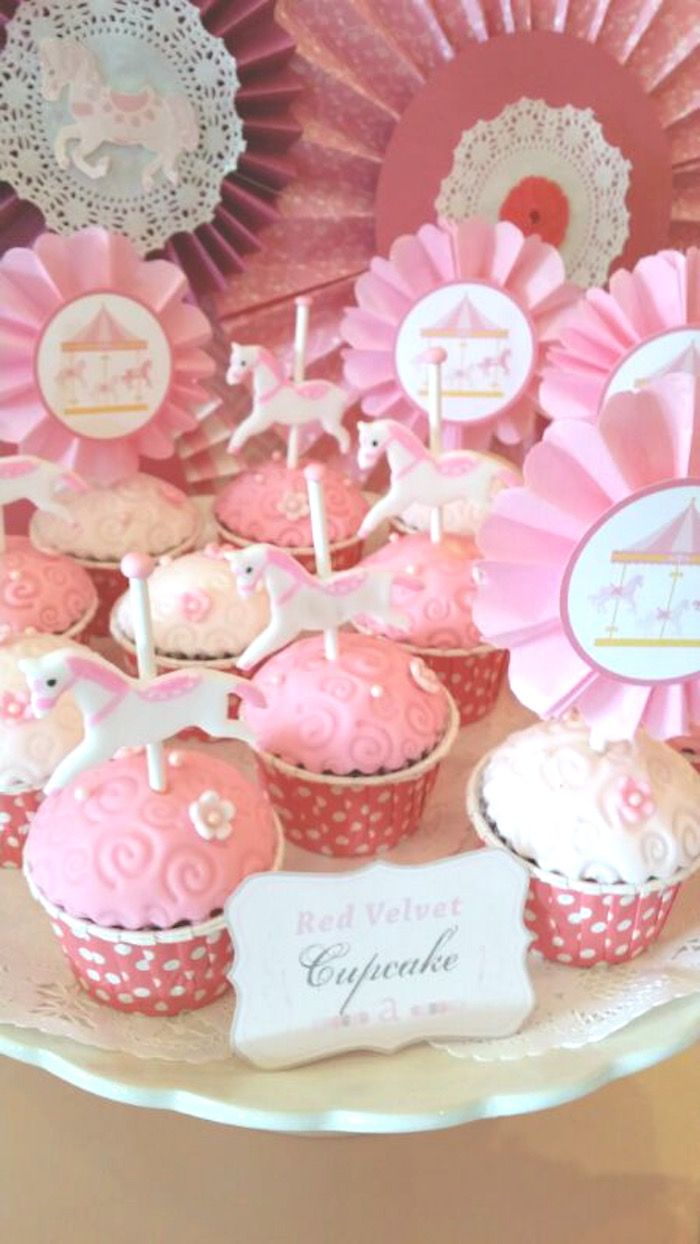 Chic Pink Carousel themed birthday party