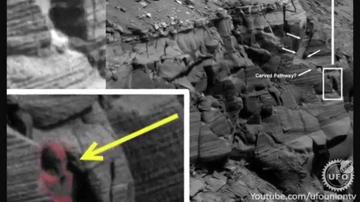 Is this Alien Pharaoh Idol on Mars?