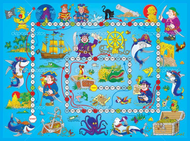 Niebieski piracka gra planszowa — Obraz stockowy #31115589