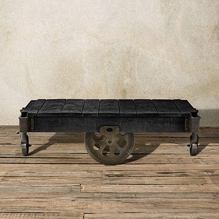 Hennings 50 Rectangle Factory Cart In Ashland Black North Carolina FurnitureLiving Room
