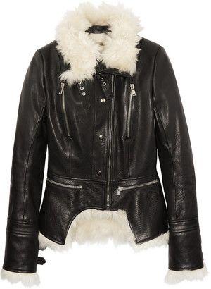 Alexander McQueen Alexander Mcqueen Shearling and Leather Biker Jacket - Shop for women's Jacket