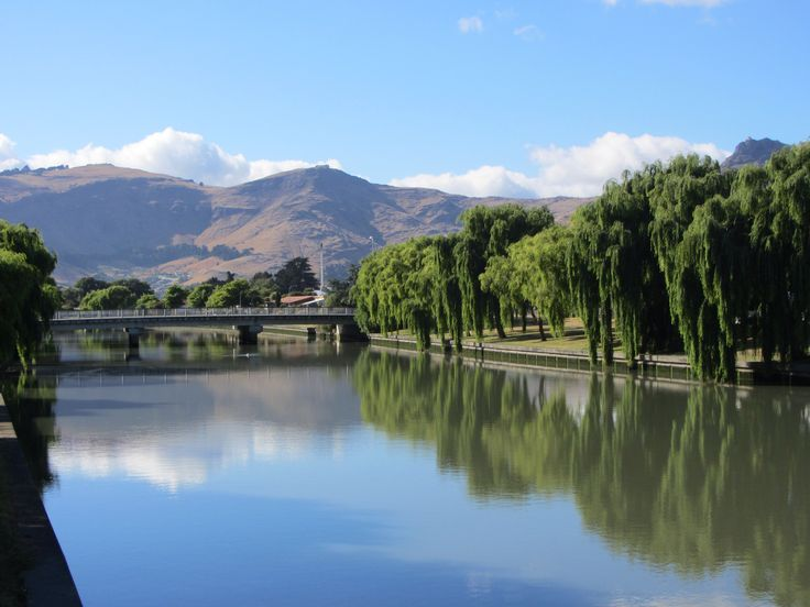Heathcote River Christchurch, polluted but still looks good on a sunny day