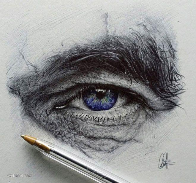60 Beautiful and Realistic Pencil Drawings of Eyes   Read full article: http://webneel.com/40-beautiful-and-realistic-pencil-drawings-human-eyes   more http://webneel.com/daily   Follow us www.pinterest.com/webneel
