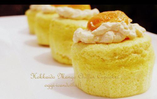 Japanese Hokkaido Cake Recipe: Hokkaido Chiffon Cupcake On