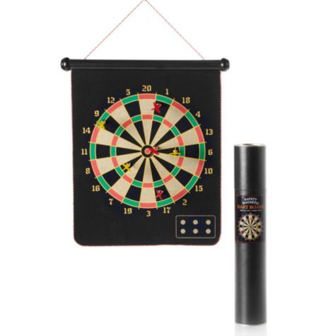 With this Magnetic Dart Board.... you wont have to worry about holes in the wall.