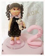 cute little girl cake topper