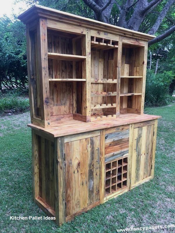 Kitchen Diy Pallet Ideas In 2020 Wood Pallets Skid Furniture