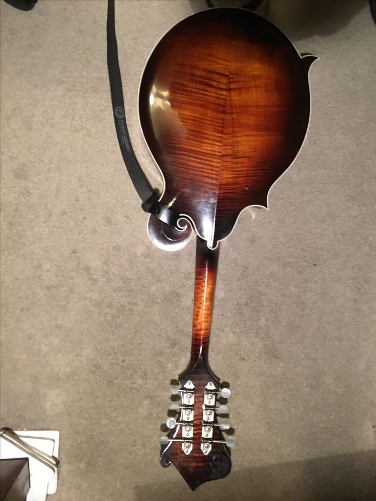 The rear of my Audie Ratliff mandolin. I love the craftsman ship on display here.