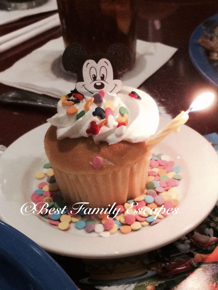Happy Birthday cupcake from Chef Mickeys