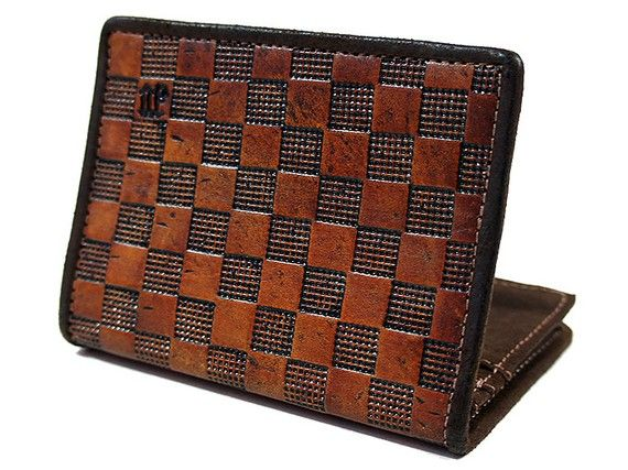 Stylish Leather Wallet for Men  Checkmate by joevleather on Etsy