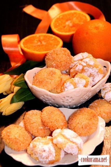 миндально (150г) апельсиновое печенье без муки