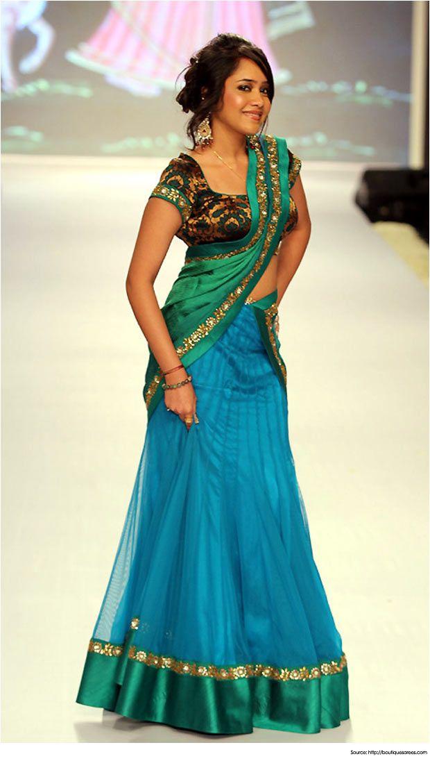 Half Saree Designs for Weddings