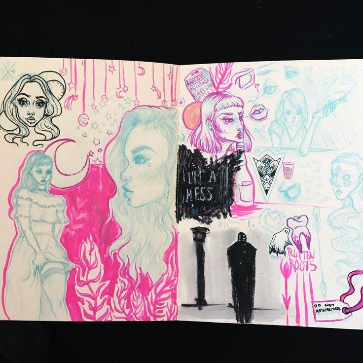 """79 Likes, 3 Comments - @artificial_dark on Instagram: """"RIP okay-ish looking feed ⚰️ #art #artist #artistsoninstagram #woman #sketchbook #drawing #sketch…"""""""