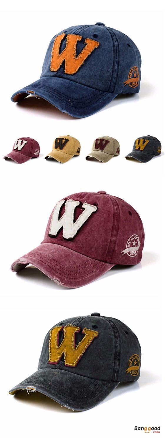 US$11.94+Free shipping. Baseball Cap, Snapback Hat, Vintage, Adjustable, W Embroidery, Denim, Washed. Color: Black, Gray, Wine Red, Yellow, Khaki, Blue. A lot of colors for your choice. Shop now~