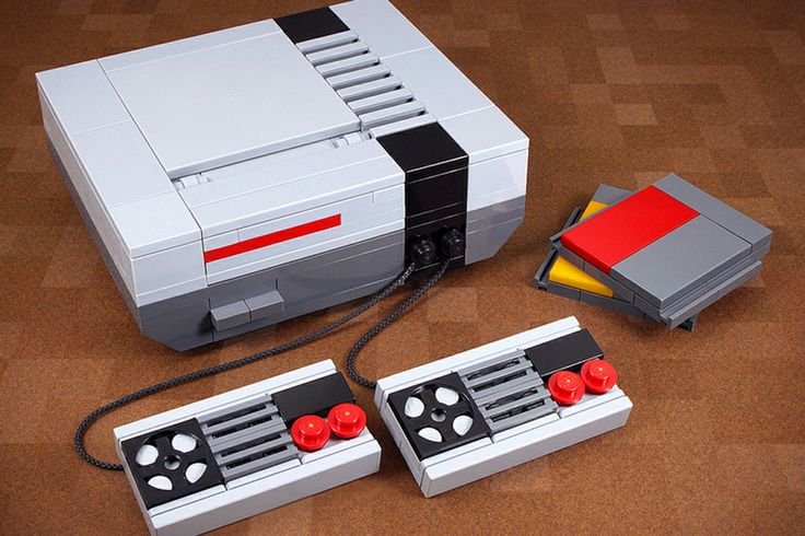 A game console made of LEGOs? Too cool.