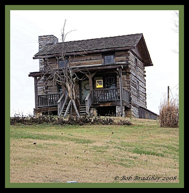 Side View Of Old Log Cabin By Bob In TN, Via Flickr