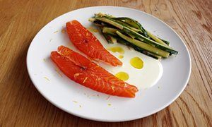 Nuno Mendes' small plates: salmon with courgette, cucumber and yoghurt | Life and style | The Guardian