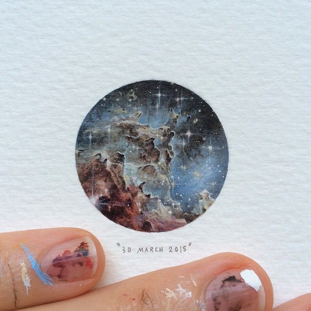 Incredible Miniature Paintings Of Galaxies, Animals And Books By Lorraine Loots | Bored Panda