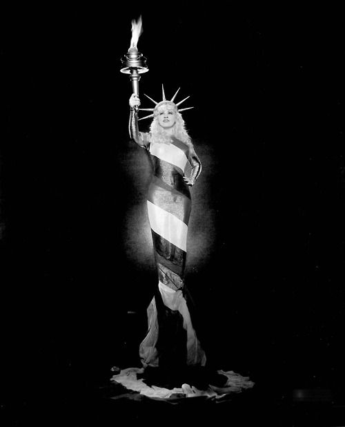 "Mae West as the Statue of Liberty in 'Belle of the Nineties' (otherwise known as ""The Statue of Libido"")"