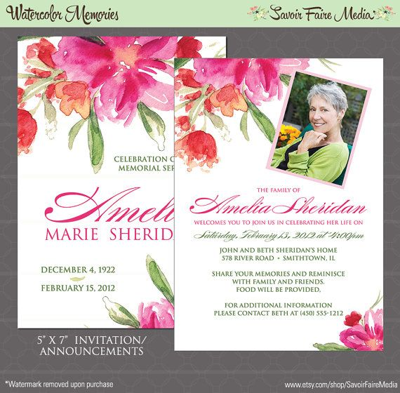 20 best Custom Funeral Memorial Order of Service Programs and - death announcement cards free