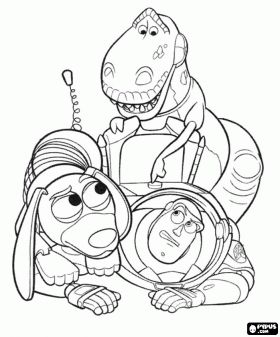 Image Result For T Rex Coloring Page Buzz Lightyear And