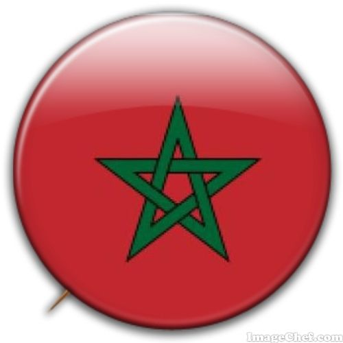 Morocco flag badge