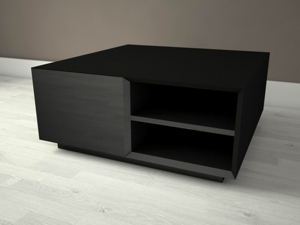 Kjub - coffee table with four storage compartments.