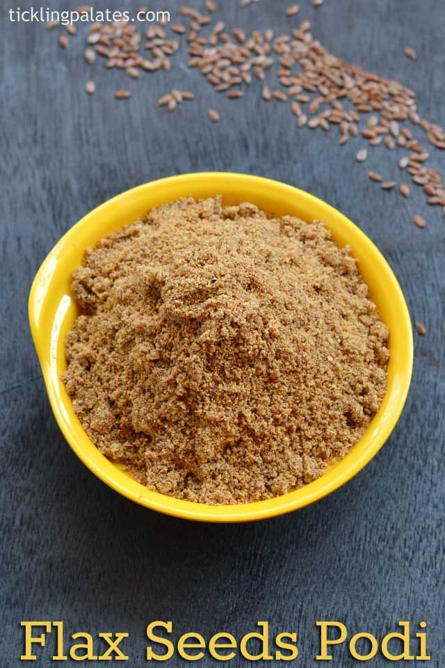 Flax seeds podi recipe or flax chutney powder to serve as a side dish to idli, dosa mixed with sesame oil or you can also mix it with rice for lunch.
