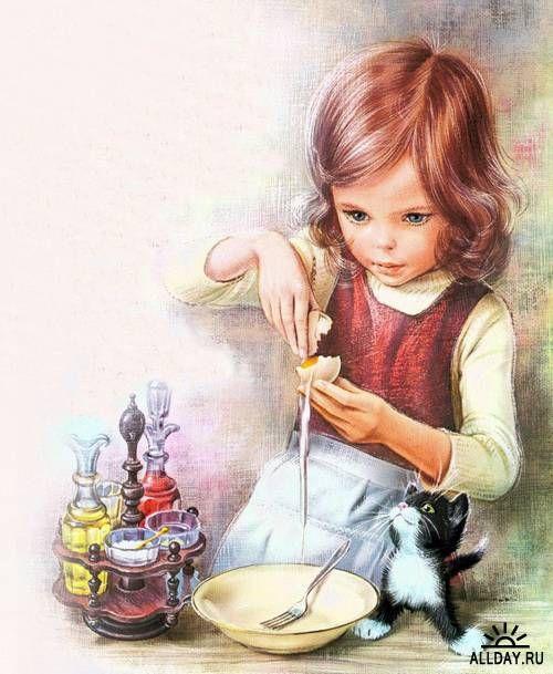 Marcel Marlier -teaching my kitty to bake