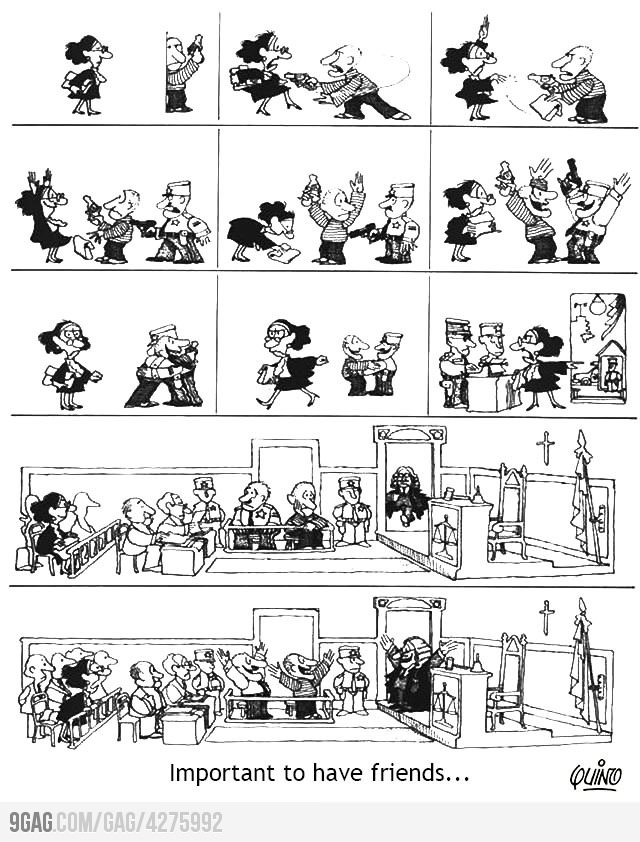 Friends... by quino