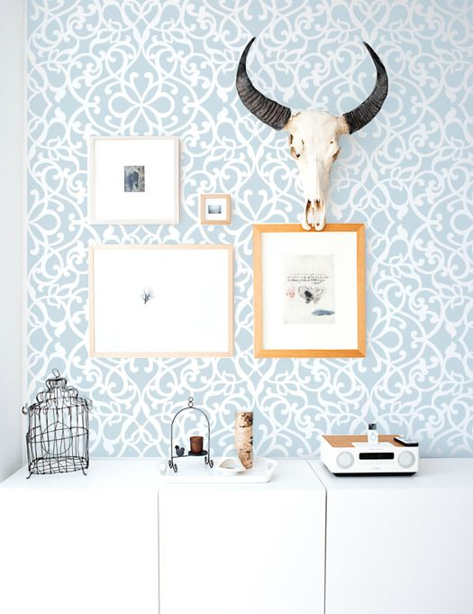 Heidi Geometric Swirls Modern Wall Damask Allover Designer Pattern Stencil  Better Than Wallpaper Or Vinyl Decals Home Decor From Stencil Boss ·  Storenvy