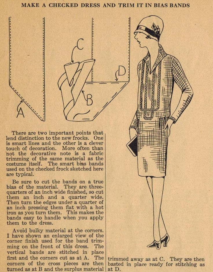 The Midvale Cottage Post: Home Sewing Tips of the 1920s - Accent Your Frock with Bias Bands