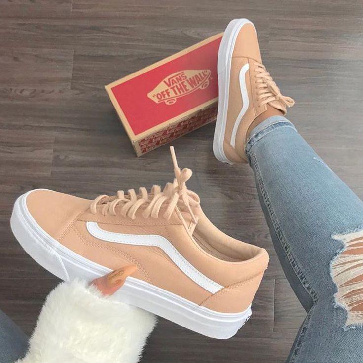 zapatillas vans beige mujer