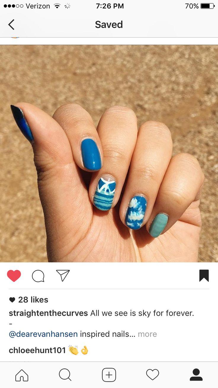 Impress press on manicure nails my style pinterest - Dear Evan Hansen Nails