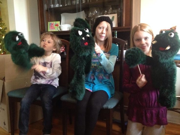 My nieces' puppet gifts