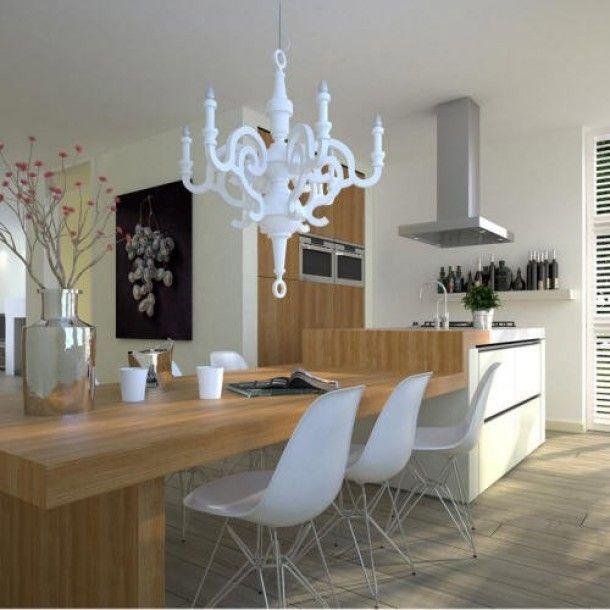 Keukeneiland met tafel in verlengde