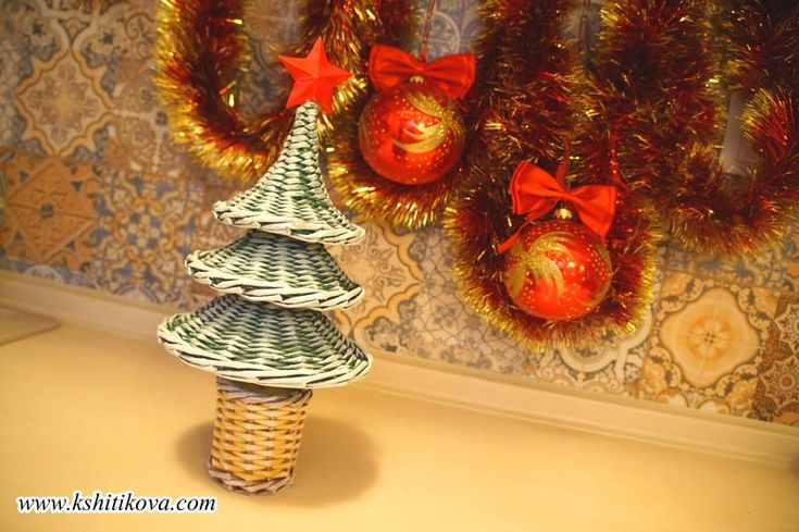 МК новогодняя трехъярусная елочка. Мастер класс от Кристины Шитиковой