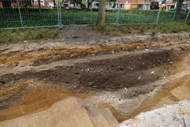 Heerlen | oktober 2016 | romeinse spitsgracht onder het huidige Tempsplein