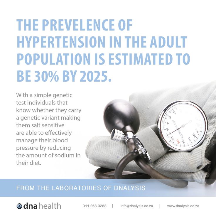 The prevelence of hypertension in the adult population is estimated to be 30% by 2025. With a simple genetic test individuals that know whether they carry a genetic variant making them salt sensitive are able to effectively manage their blood pressure by reducing the amount of sodium in their diet.  #dnalysis #dnahealth