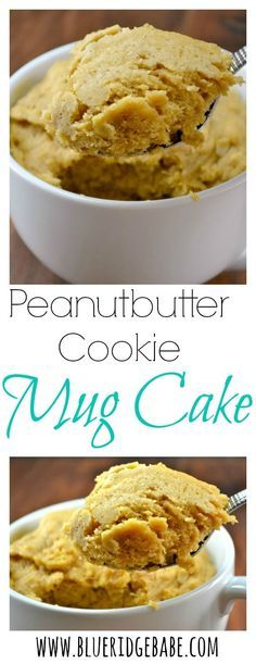 Gluten free dairy free refined sugar free recipe for peanutbutter cookie mug cake!