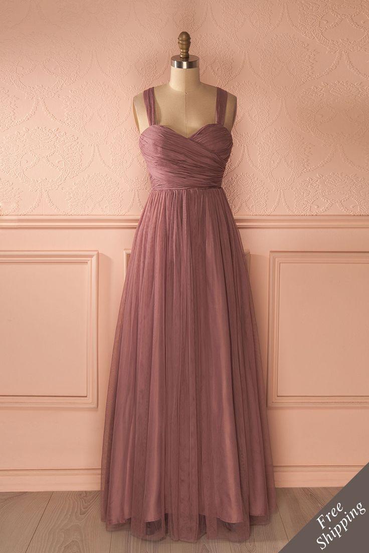 ne histoire merveilleuse était sur le point de s'écrire...    A wonderful story was about to be written... Maxi purple tulle prom dress www.1861.ca