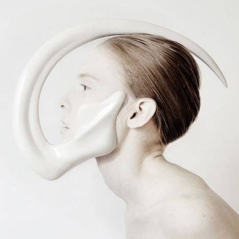London College of Fashion graduate Ana Rajcevic created a series of tusks, horns and spines for the human body.