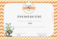 Certificate for spelling bee